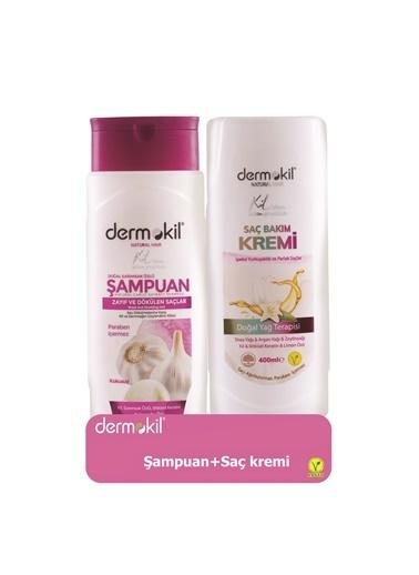 Dermokil Dermokil Sarımsak Özlü Şampuan 400Ml ve Saç Kremi 400Ml 2'li SET Renksiz